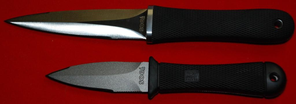 "SOG Pentagon vs the SOG Mini Pentagon...  Daggers (Photo:""Vadyan"" - guns.ru)"