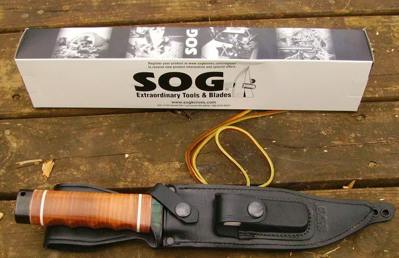 "What comes in the box with the Super SOG Bowie (Photo:""mistwalker"" - bladeforums)"